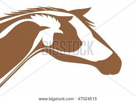 Brown veterinary emblem