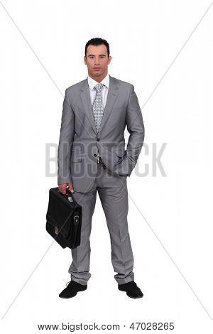 Man wearing an oversized suit