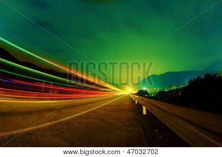 Highway At Night..