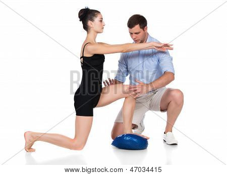 Physiotherapist Treating Patient