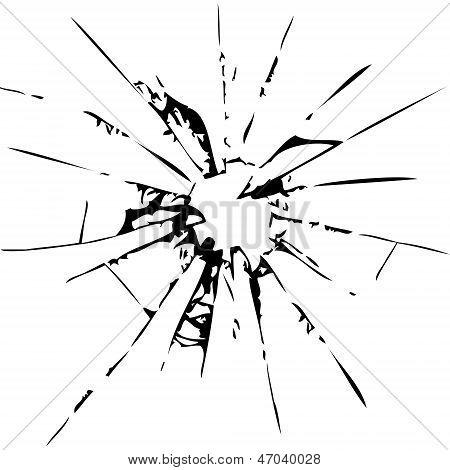 Abstrakt Glasscherben