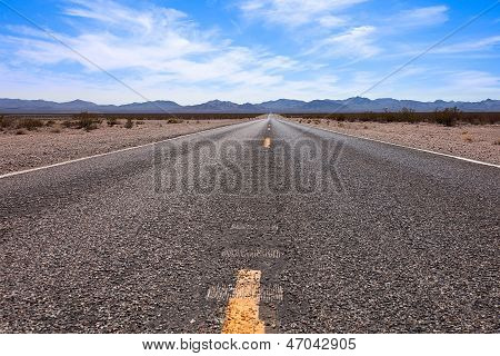 Straight Desert Road