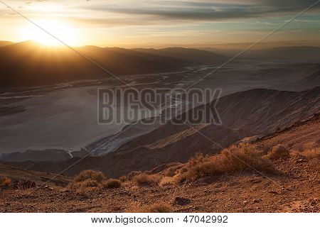 Sunset At Badwater Basin, Death Valley