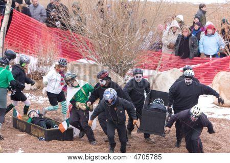Frozen Dead Guy Days. Coffin Races