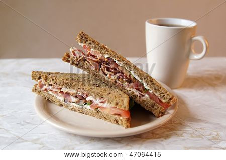 Blt Sandwich And Tea