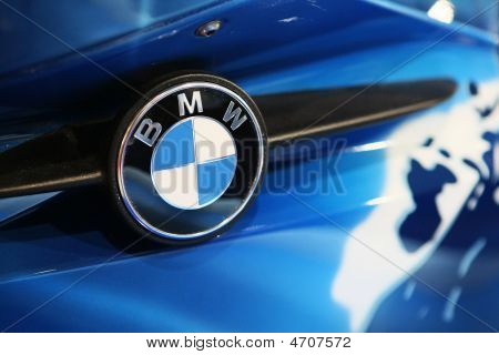 Moscow, Russia - 28 August, 2008: Logo Bmw On Motorbike At Moscow International Exhibition Motorshow