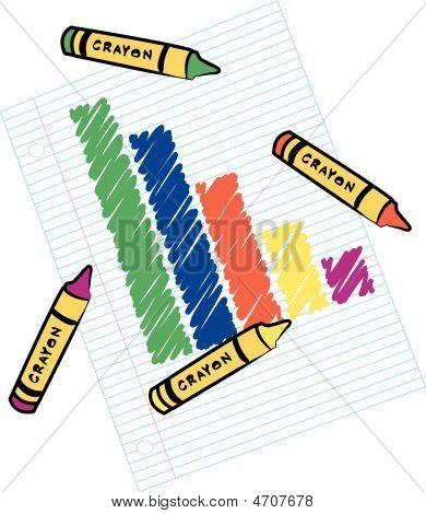 Crayons And Bar Graph