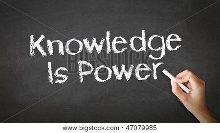 Conhecimento habilita você a ilustração de giz