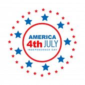 vector american 4th of july style design poster