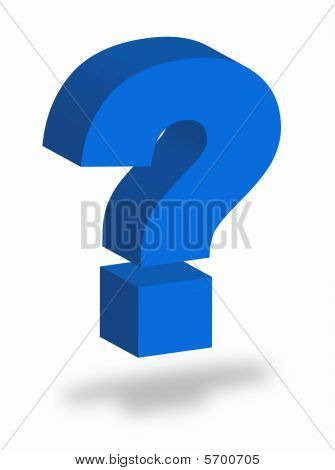 Colorful question mark as symbol of question poster