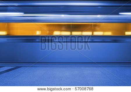 Subway. Underground Train