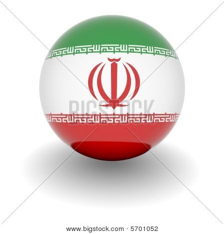 High Resolution Ball With Flag Of Iran