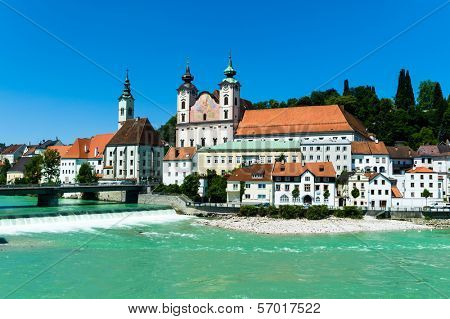 the old town of steyr in upper austria. austria, europe