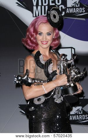 Katy Perry in the2011 MTV Video Music Awards Press Room, Nokia Theatre LA Live, Los Angeles, CA. 08-28-11