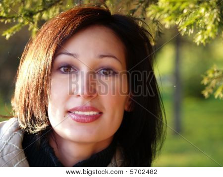 Expressive Eyes Of The Woman