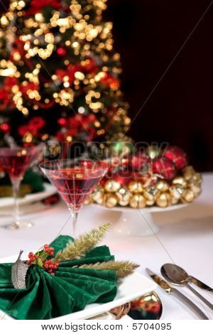 Christmas Table And Tree