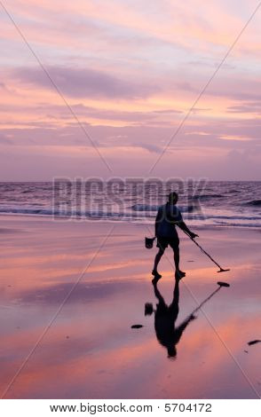 Metal Detecting At Sunrise