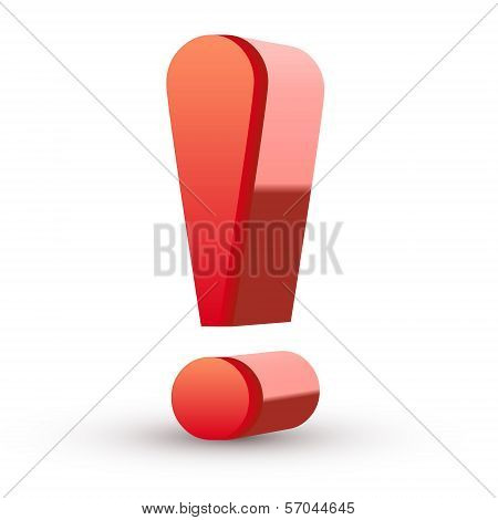 3D Red Exclamation Mark