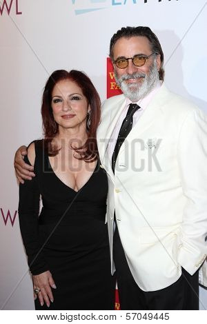 Gloria Estefan, Andy Garcia at the Hollywood Bowl 90th Season Hall of Fame Ceremony, Hollywood Bowl, Hollywood, CA. 06-17-11