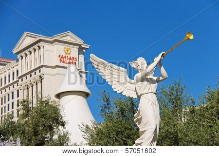 Statue Of Cherub In Caesar's Palace   In Las Vegas