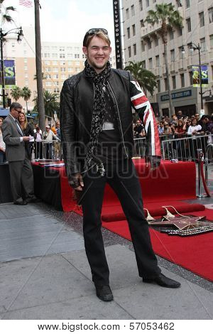 James Durbin at Simon Fuller's induction into the Hollywood Walk of Fame, Hollywood, CA. 05-23-11
