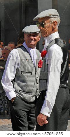 Men dressed as
