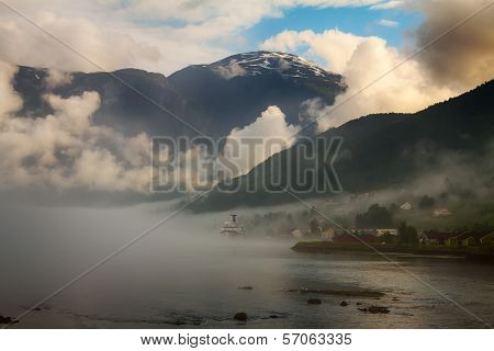 View to Nordfjord in Norway