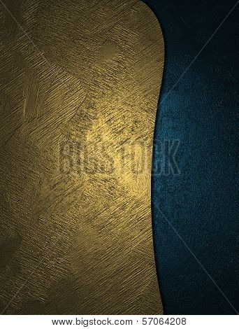 The template for the inscription. Gold and blue texture.