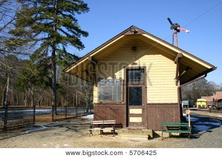 Railroad Station in Historic Allaire State Park, New Jersey
