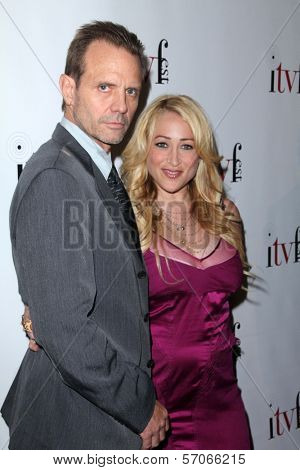 Michael Biehn, Jennifer Blanc-Biehn at the ITVFEST Awards Banquet honoring Michael Biehn, Renaissance Hotel, Hollywood, CA. 08-12-11