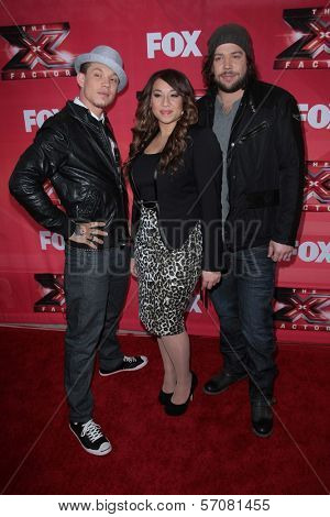 Chris Rene, Melanie Amaro and Josh Krajcik at