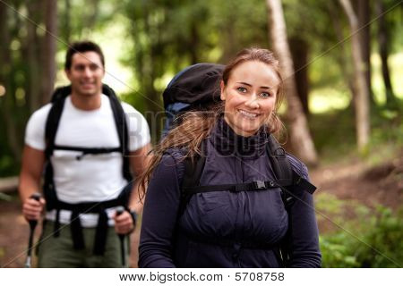 Female Camping Portrait