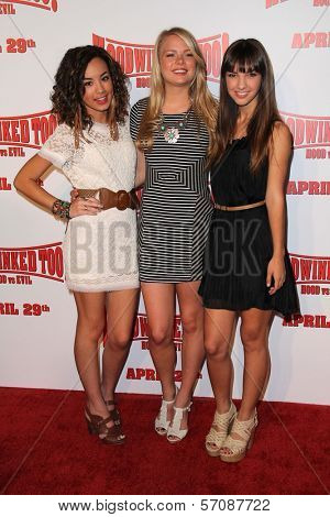 Savannah Jayde, Kelli Goss, Denyse Tontz at the