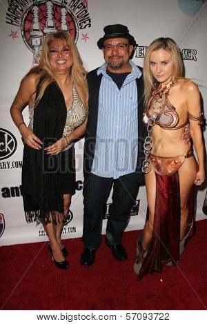 Gina Cardarella, Kyle T. Heffner and Paula Labaredas at the Vera Mesmer Video Release Party, featuring Harry The Dog and Paula Labareas of ComicCosplay, Aqua Lounge, Beverly Hills, CA. 03-09-11