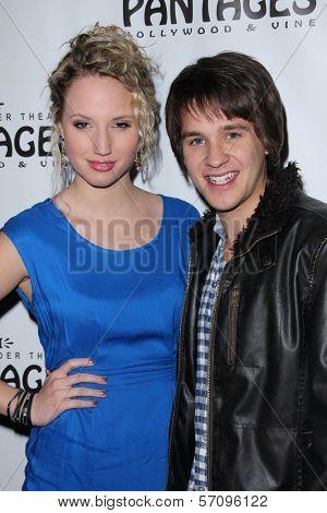 Molly McCook and Devon Werkheiser at the AVENUE Q Los Angeles Return, Pantages, Hollywood, CA. 03-01-11