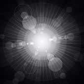Shining circles and stars gray background. RGB EPS 10 vector poster