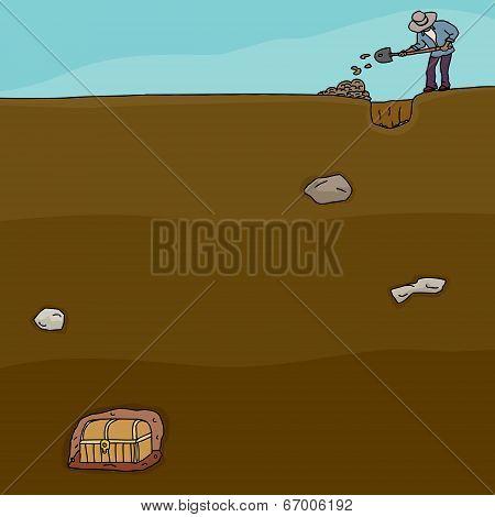 Treasure Hunter Digging