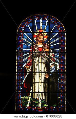 PARIS,FRANCE NOV 07: Sacred heart of Jesus and Saint Margaret Mary Alacoque, Notre-Dame de Clignancourt church located in the 18th arrondissement of Paris. Completed in 1863. On Nov 07 in Paris