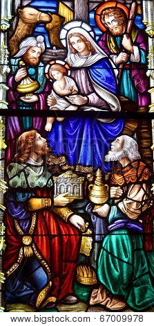 Stained glass window in St John's Anglican Church