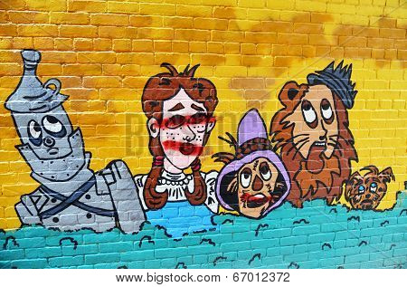 Mural Wizard of Oz