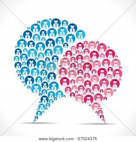 male female icon message bubble vector