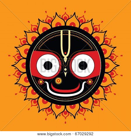 Jagannath. Indian God of the Universe. Lord Jagannatha. poster