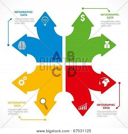 creative arrow info-graphics design concept vector
