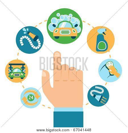 Car wash hand
