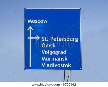 Road Sign Russia