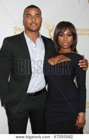 LOS ANGELES - JUN 19:  Redaric Williams, Angell Conwell at the ATAS Daytime Emmy Nominees Reception at the London Hotel on June 19, 2014 in West Hollywood, CA
