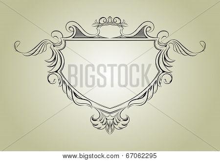 Vector frame with floral elements for registration