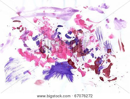 Pink And Violet Paint