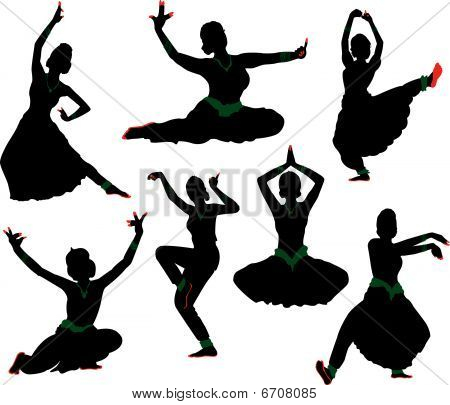 Indian Dancer silhouette