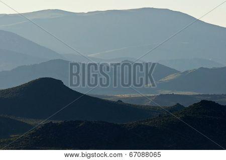 Sidelit Eastern Sierra Foothills